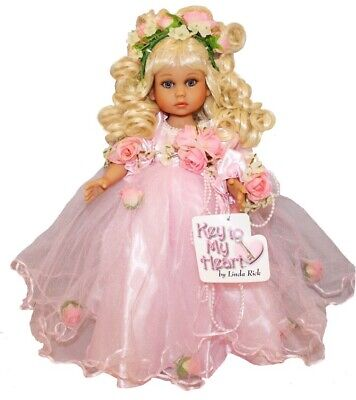 Key to My Heart Pretty as can be BRUNETTE Doll by Linda Rick The Doll Maker