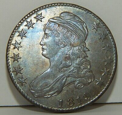 1819 - Capped Bust Half Dollar - 50 Cents - AU