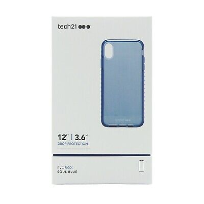 Tech21 Evo Rox Drop Protection Case Cover for Apple iPhone X & Xs Soul blue