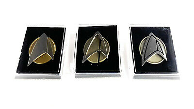 Star Trek PICARD Series Combadge Communicator Pin in Deluxe Case- Your Choice