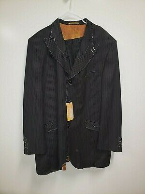 Velentino Ferrel 52 L Men's 3 Piece Suit Pinstriped New with tags!