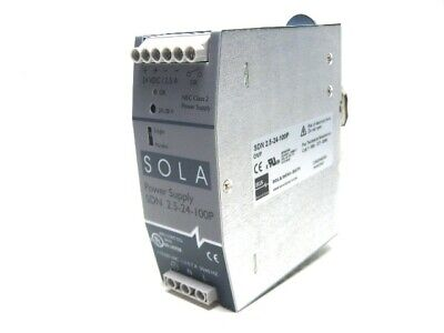 Sola SDN 2.5-24-100P Power Supply 115/230 Vac 24 Vdc