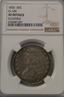 1826 Capped Bust Half Dollar 0-109 Ngc Xf Details Cleaned Free Shipping