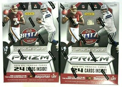 2019 Panini Prizm Football Blaster Box ( 2 Box Lot )