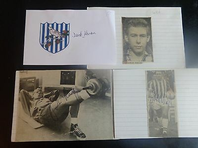 WEST BROMWICH ALBION BRADFORD PA Bristol City CHARLES DRURY player 1960s  Signed