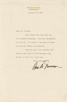 Bess W. Truman - Typed Letter Signed 01/27/1948