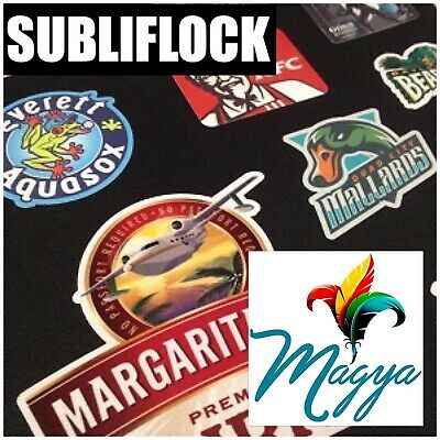 "Subli-Flock Sublimation Transfer Media 20 Sh 8.5""x11"" pack SUBLIFLOCK Made In US"