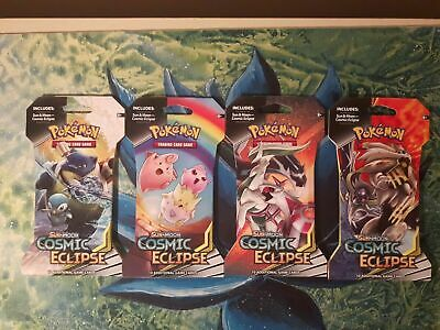 Sun & Moon: COSMIC ECLIPSE  **X4 SEALED POKEMON Blister Booster Packs** TCG