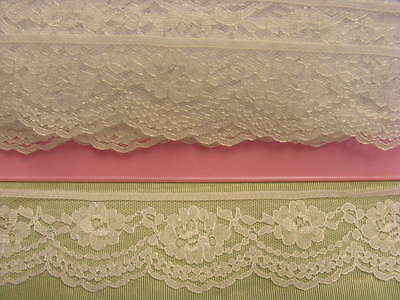 Flat Lace White  x 30 meters (215)