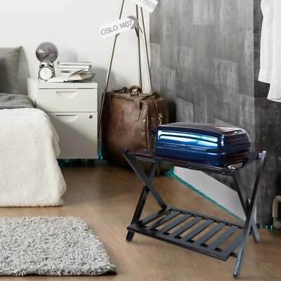 Folding Wood Luggage Rack Stand for Suitcase or Bag Storage Holder