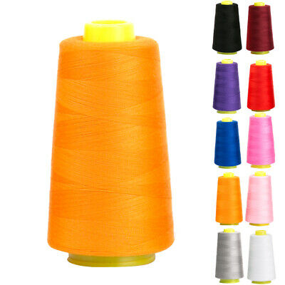 3000y Cotton Threads Reels Industrial Overlocking Cones Sewing Machine Polyester