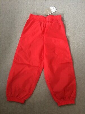 BNWT Next red shower proof full length trousers spring / festival 3 - 4 years