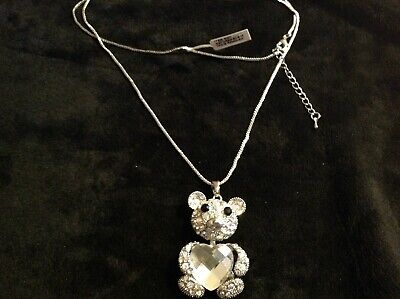 """30/""""+2/"""" in gold tone multicoloured crystal pendant 2.5/"""" with chain"""
