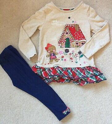 Girls 2-3 Years Tu Christmas Outfit Top And Leggings