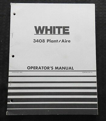 Genuine White Oliver 3408 Plant/Aire Planter Operators Manual Very Good Shape