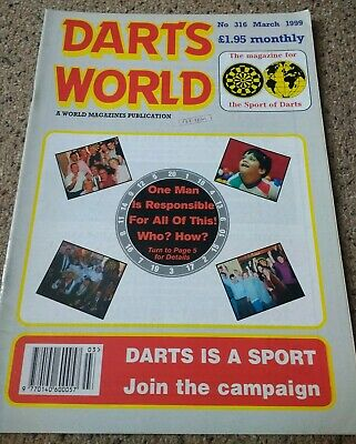 DARTS WORLD. Magazine. March 1999.