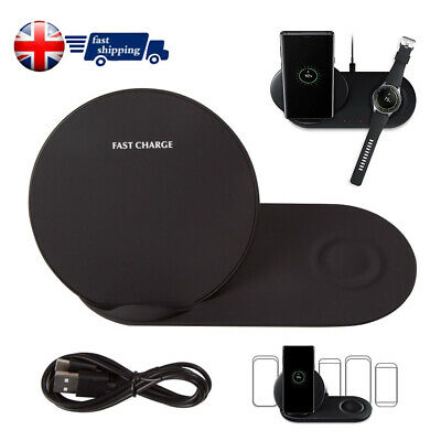 For Samsung Galaxy Note 9&Watch Fast Wireless Charger Pad Dock Holder Charging