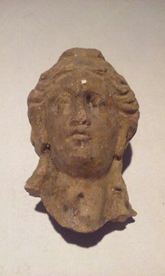 Ancient Terracotta head of Apollo or Alexander the Great