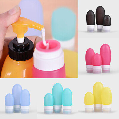 Silicone Travel Bottle Lotion Shampoo Liquid Cosmetic Portable Empty Containers