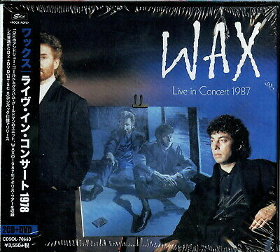Wax-Live in Concert 1987-IMPORT 2 Digipak CD+DVD con Giappone Obi I32