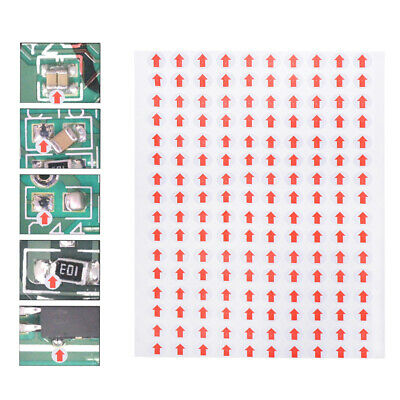 6400pcs Red Arrow Stickers Paper Labels Defect Indicator Labels for Stores