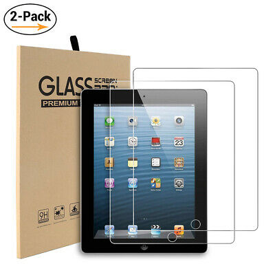 2Pack Tempered Glass Screen Protector for iPad 9.7 5th 6th Generation 2017/2018