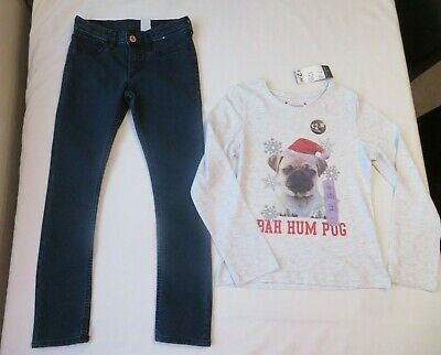 h&m & primark girls outfit age 7-8 years