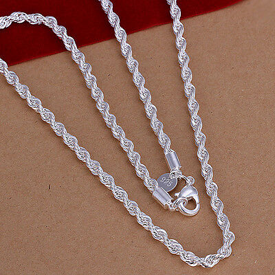 925 Hallmark Sterling Silver Filled SF Multi Love Chain  Necklace N464