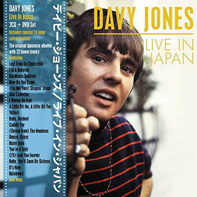 Davy Jones-Live in Japan-Import 2 CD+DVD con Giappone Obi L60