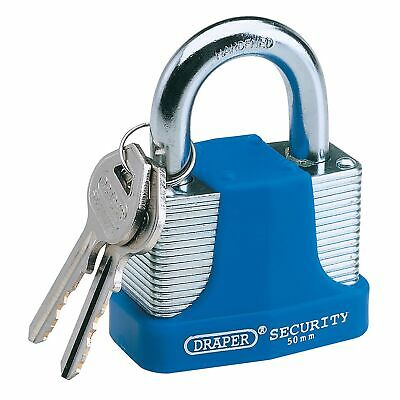 Draper 30MM Steel Padlock with Hardened Steel Shackle and Bumper 8308/30