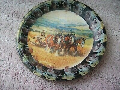Clydesdale       On A Decoupage  Plate