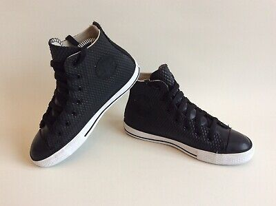 Limited Edition Rare Converse All Star Black Rubber 3D Texture Uk Size 2 Unisex