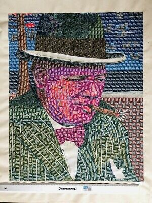 Winston Churchill print picture image WW2 stamps from original- limited edition