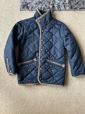 Joules Boys Quilted Jacket Age 4 In Blue