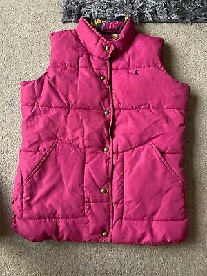 Joules Girls Pink Gilet Age 11-12