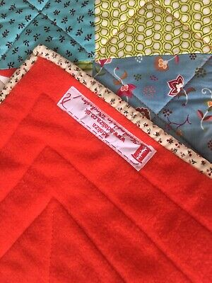 """adaliza patchwork quilt 29"""" by 29"""" playmat cotton poly wading"""