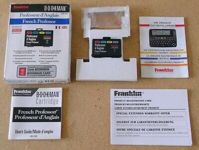 Franklin Bookman Bookcard - French-English Dictionary - Bqf-2025 - Boxed