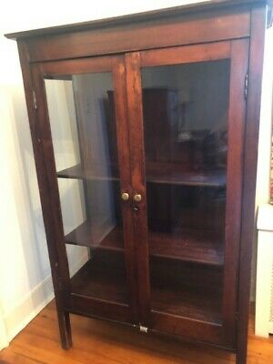 China Cabinet with Hutch and Glass in Doors