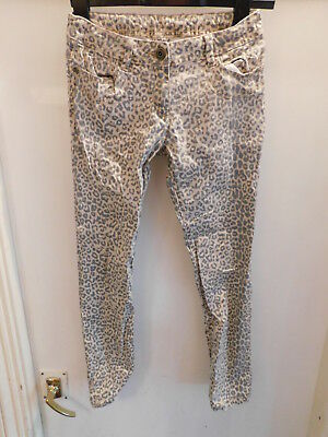 Next leopard print jean style trousers. Size 12 years. Height 152cm. punk rock