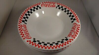 COCA-COLA (4) Soup Salad Cereal Bowls by Gibson Set of 4