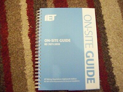 5x IET On Site Guide Wiring Regulations 18th Edition 2018 BS7671 OSG Blue Spiral