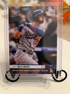 2019 TOPPS NOW Card Of The Month April M-APR CODY BELLINGER Los Angeles Dodgers