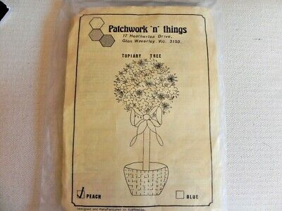 Patchwork n Things - Topiary Tree Embroidery Kit - Blue