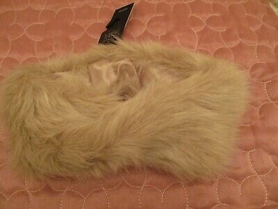 Cream faux fur head band by M&S BNWT fully lined width 5inch length 12 inch