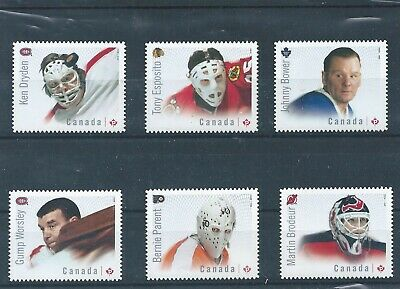 Canada #2867i-72i NHL Great Canadian Goalies Die Cut MNH **Free Shipping**