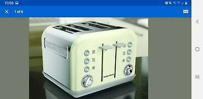 Morphy Richards 242003 Accents 4 Slice Toaster Off White