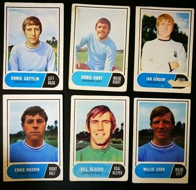 1969/70 A&BC Footballers (Green Backs) - Coventry City Set (x6 Cards)
