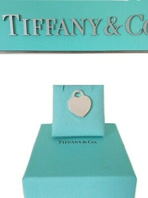 Tiffany & Co Sterling Silver Blank Engrave able  2001 Heart Tag Pendant Charm