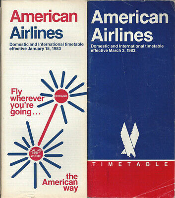 American Airlines system timetable 12//17//86 Buy 2 Get 1 Free 308AA