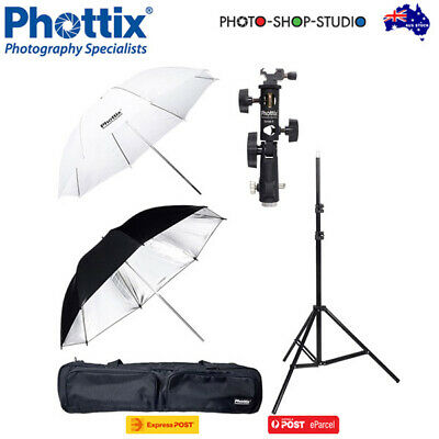 AU STOCK *Phottix Dual Umbrella Strobist Kit *CLEARANCE SALE*